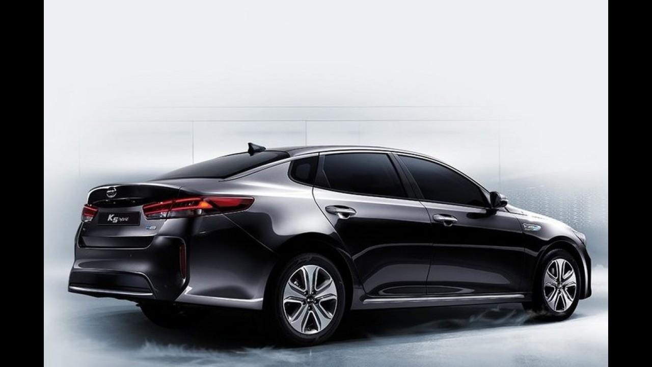 Novo Kia Optima 2016 ganha versão híbrida; consumo é de 17,5 km/l