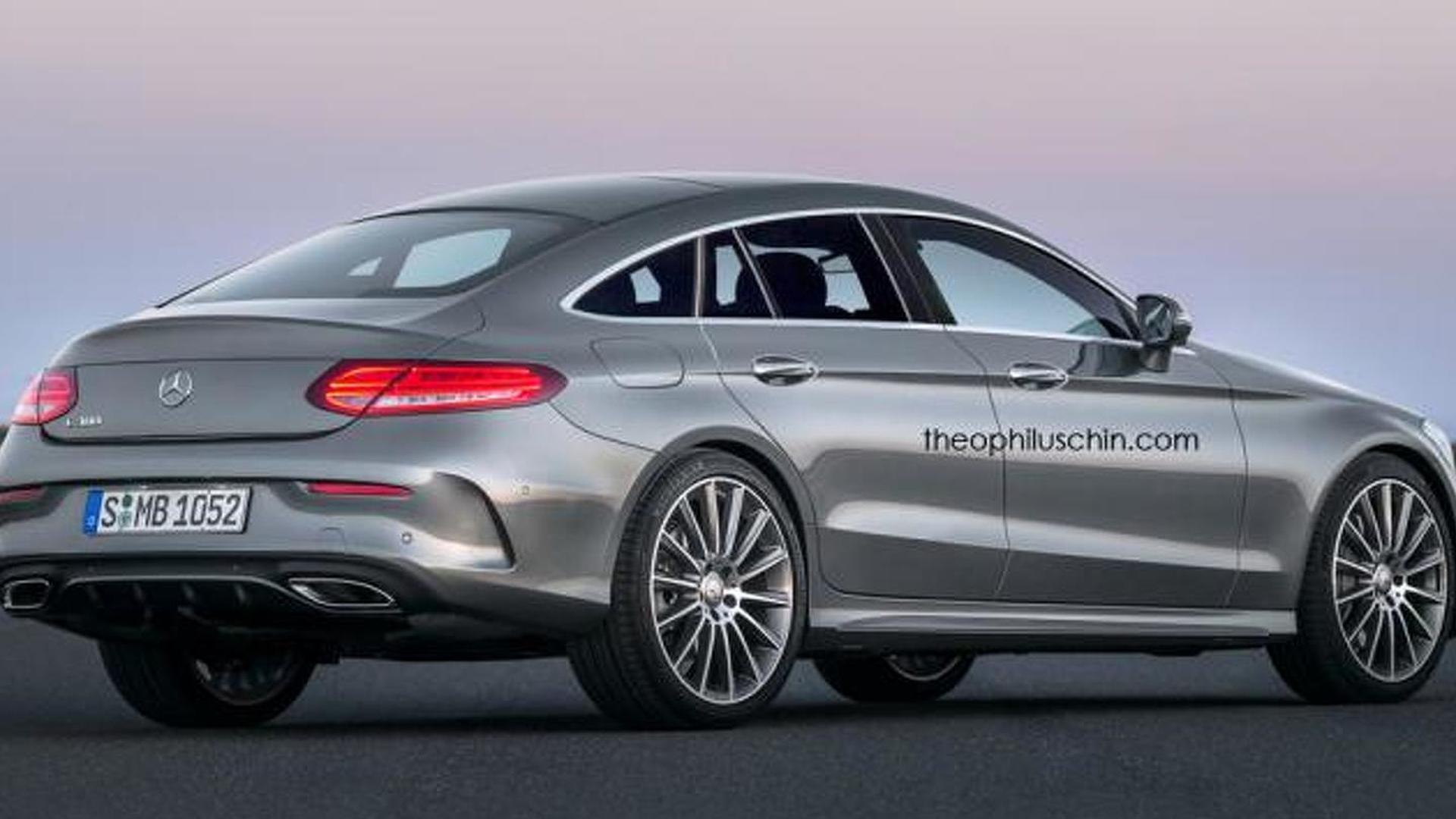 Mercedes Benz Coupe >> Mercedes-Benz CLC four-door coupe rendered based on C-Class Coupe