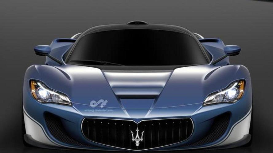 Rumored LaFerrari-based Maserati supercar rendered