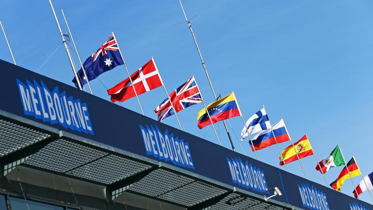 Melbourne flags and atmosphere, 12.03.2014, Albert Park / XPB