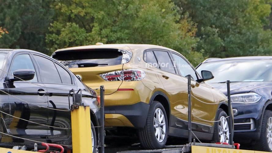 2018 BMW X2 with almost no camouflage spy photos