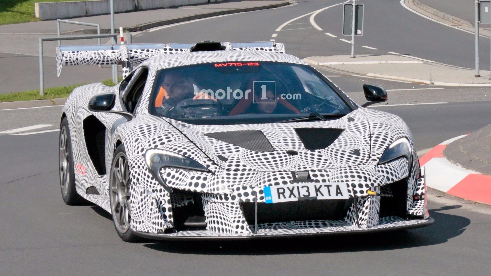 mysterious mclaren 675lt race car spied on the nürburgring
