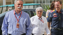 Chase Carey, Formula One Group Chairman with Bernie Ecclestone and Christian Horner,  Red Bull Racing Team Principal