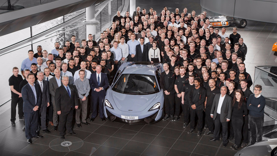 McLaren builds its 10,000th car