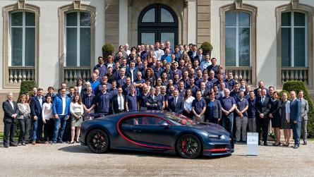 Bugatti Chiron - Le centième exemplaire est sorti des ateliers