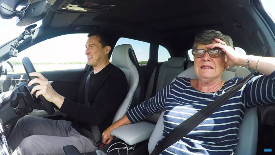 Grandma Drives Audi RS4 Avant