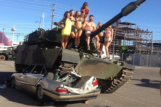 Dan Bilzerian Drives Over a BMW in a Tank, Because He Can [w/Video]