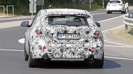 2019 BMW M140i Spied With Blocked Exhaust Tip