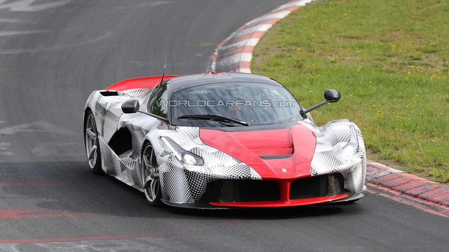 LaFerrari prototype spied testing on the 'Ring