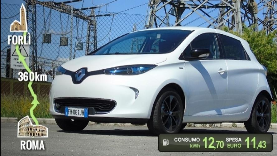 Renault Zoe, la prova dei consumi reali