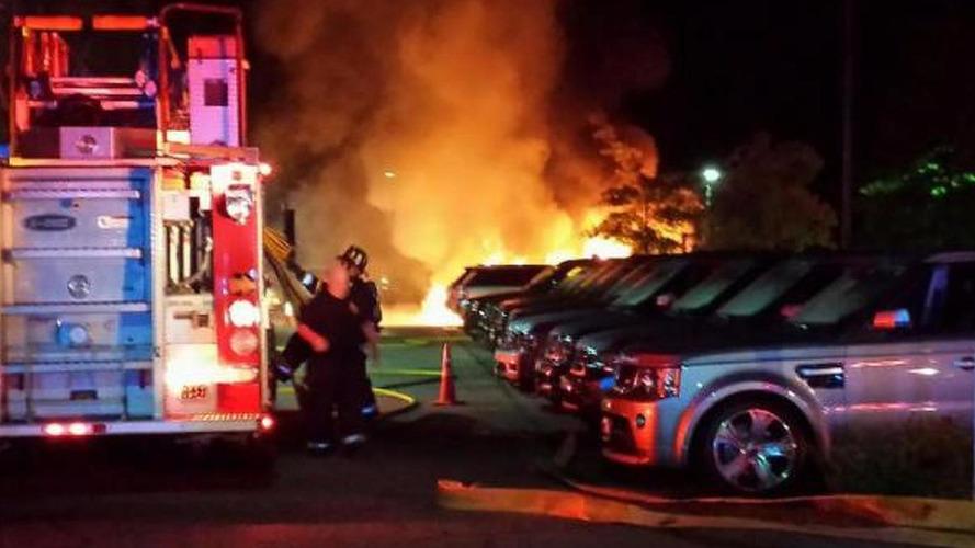 Fire at Jaguar Land Rover dealership in Massachusetts burns 20+ cars