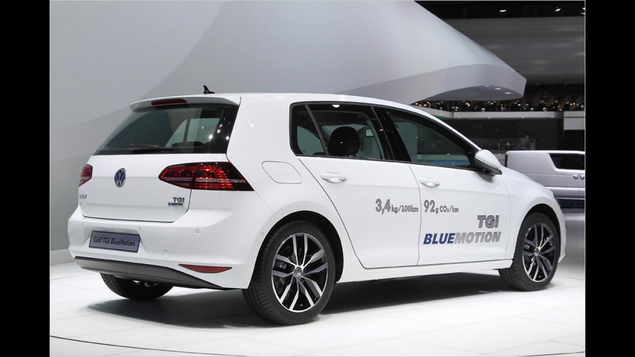 Die Besten der Kompaktklasse, geteilter Platz 2: Volkswagen Golf 1.4 TGI BlueMotion, 7,38 Punkte