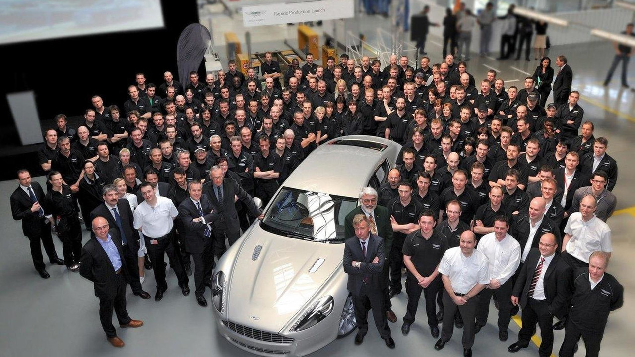 First Aston Martin Rapide off the production line 07.05.2010