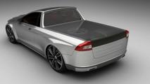 Volvo V70 pickup 3D rendering
