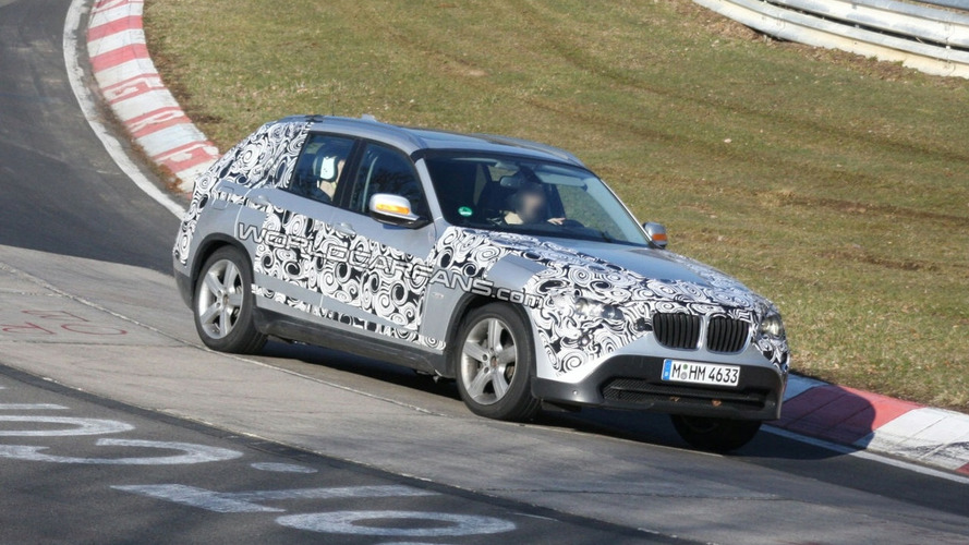 BMW X1 Spy Photos on the Nurburgring
