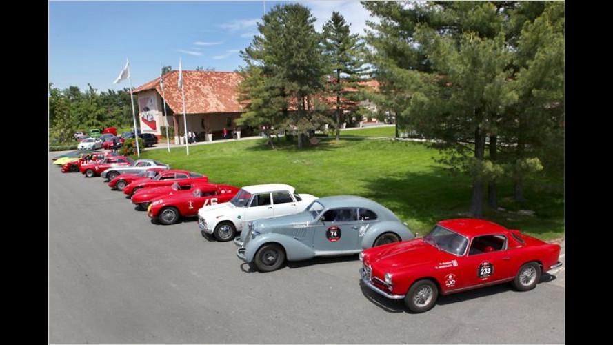 Unterwegs mit Autos aus 100 Jahren Alfa Romeo