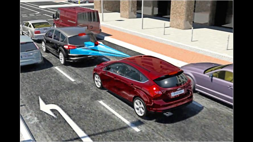 Sicherheit bei Ford: Vom Notbremsen bis zum Airbag-Gurt