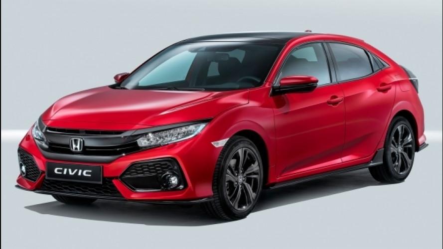 Nuova Honda Civic, la giapponese si abbassa