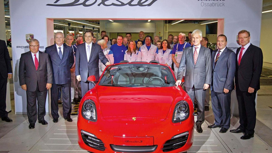 Volkswagen begins building the Porsche Boxster