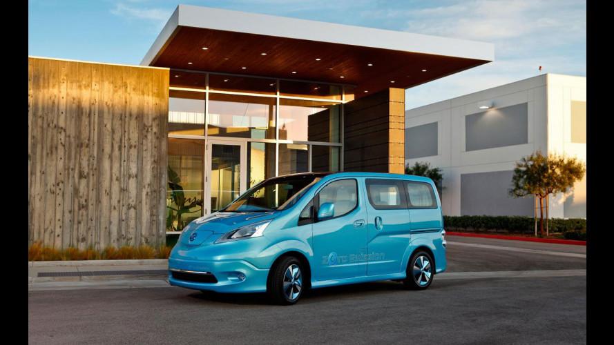 A Detroit l'elettrico Nissan è anche commerciale