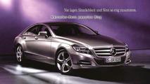 2011 Mercedes CLS leaked brochure image