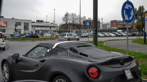 2014 Alfa Romeo 4C Spider spied for the first time