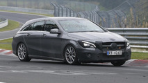 Facelifted Mercedes-Benz CLA Shooting Brake spotted at the Nürburgring