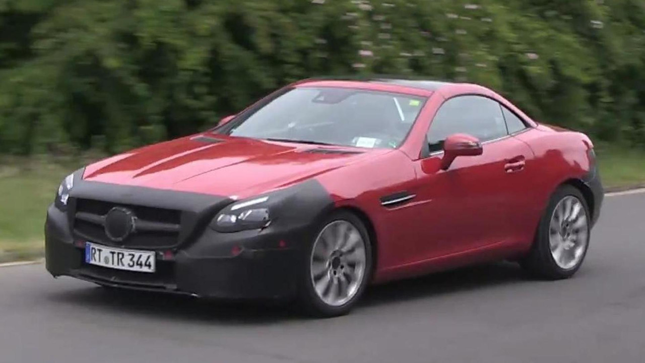 2016 Mercedes-Benz SLC screenshot from spy video