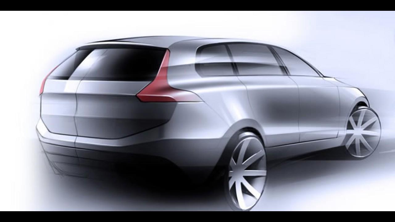 Volvo mostra esboço do futuro XC90 2014