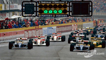 Damon Hill, Alain Prost, Ayrton Senna and Michael Schumacher