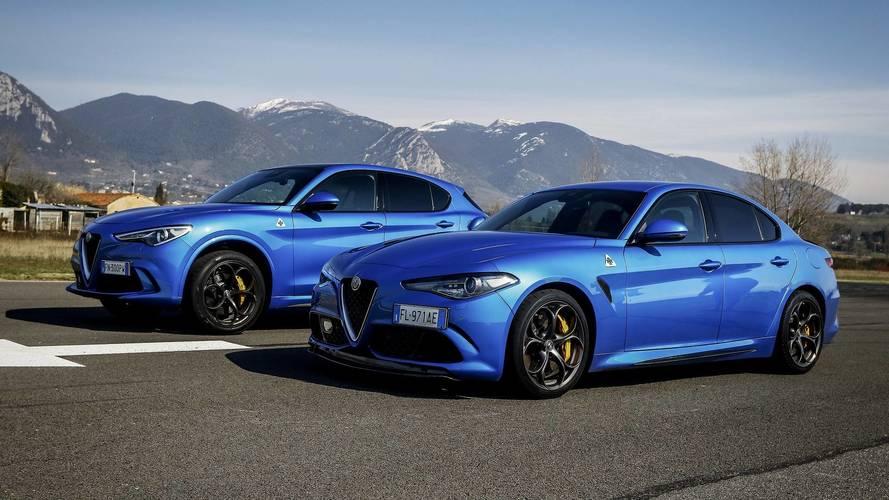 Gyorsulási verseny: Alfa Romeo Giulia Quadrifoglio vs. Stelvio Quadrifoglio