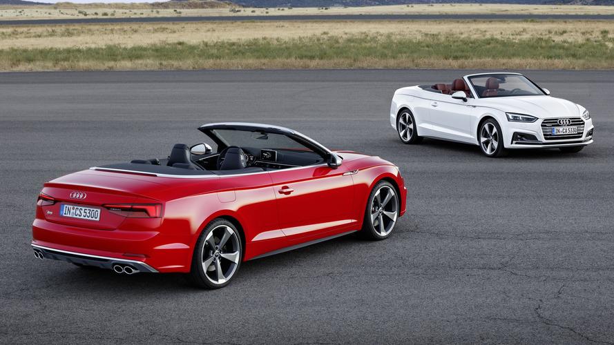 Les Audi A5 et S5 enlèvent le haut