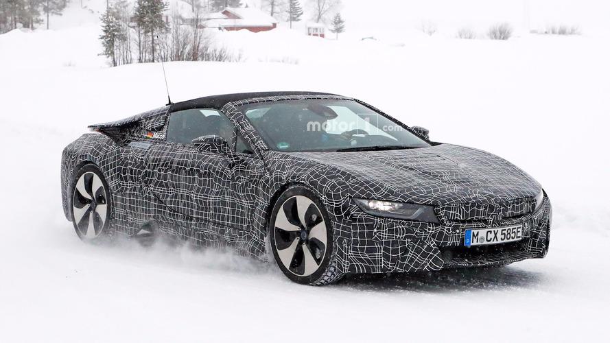 BMW i8 Spyder spied in the snow