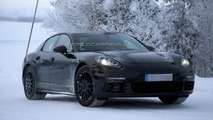 Next generation Porsche Panamera spied up close with minimal camouflage