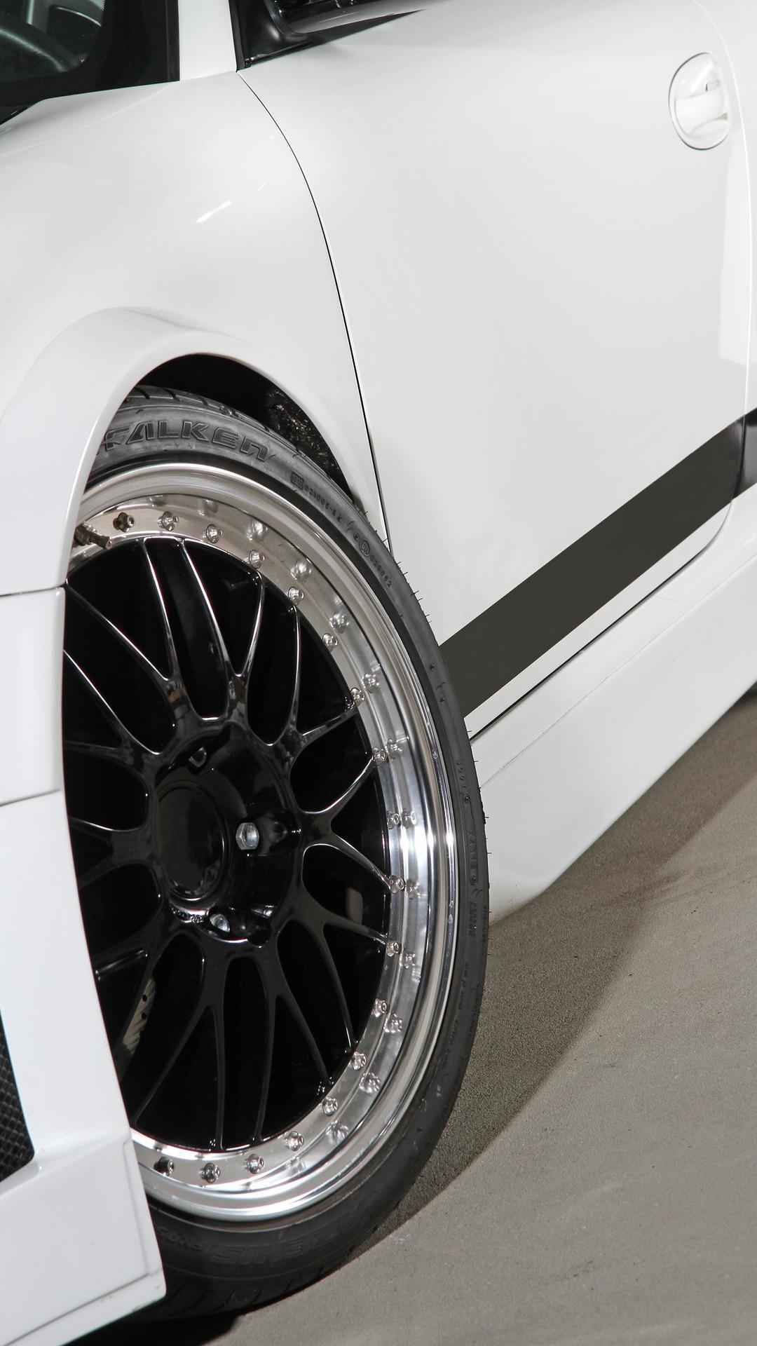Двухцветная покраска дисков Porsche 911