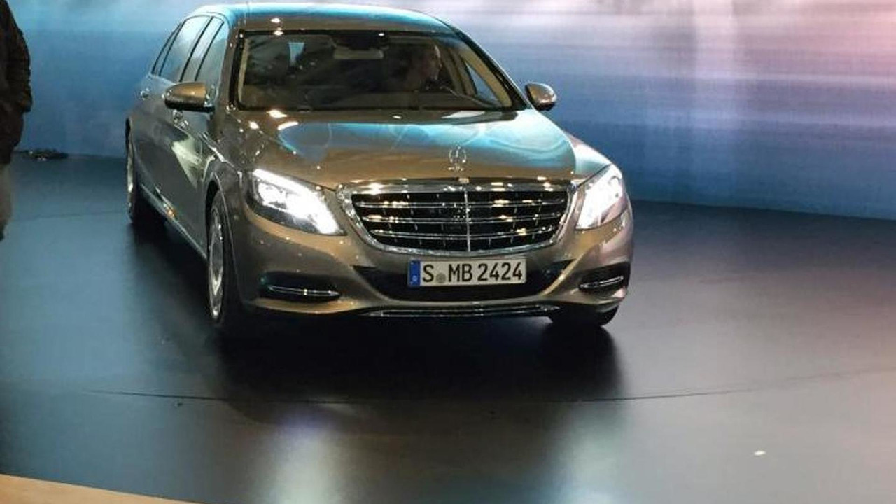 Mercedes Maybach S600 Pullman in Geneva / auto.163.com