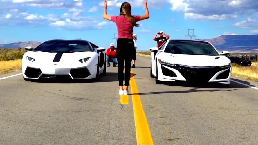 Acura NSX, Lamborghini Aventador'dan daha mı hızlı?