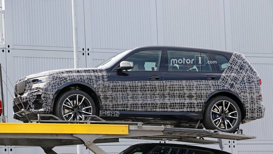 BMW X7 Caught On A Trailer Looking Large And Imposing