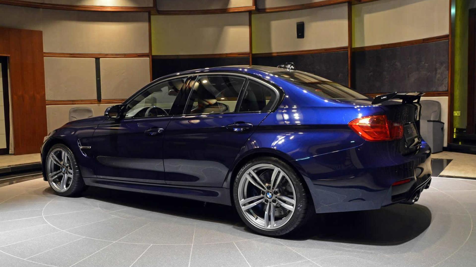 Heavilyspecced BMW M Tanzanite Blue Features Carbon Fiber Rear Wing - Blue bmw m3