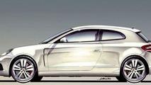 Porsche hatchback illustration from 2002