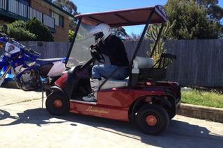 Man Told to Sell Lamborghini Golf Cart or Lose Wife