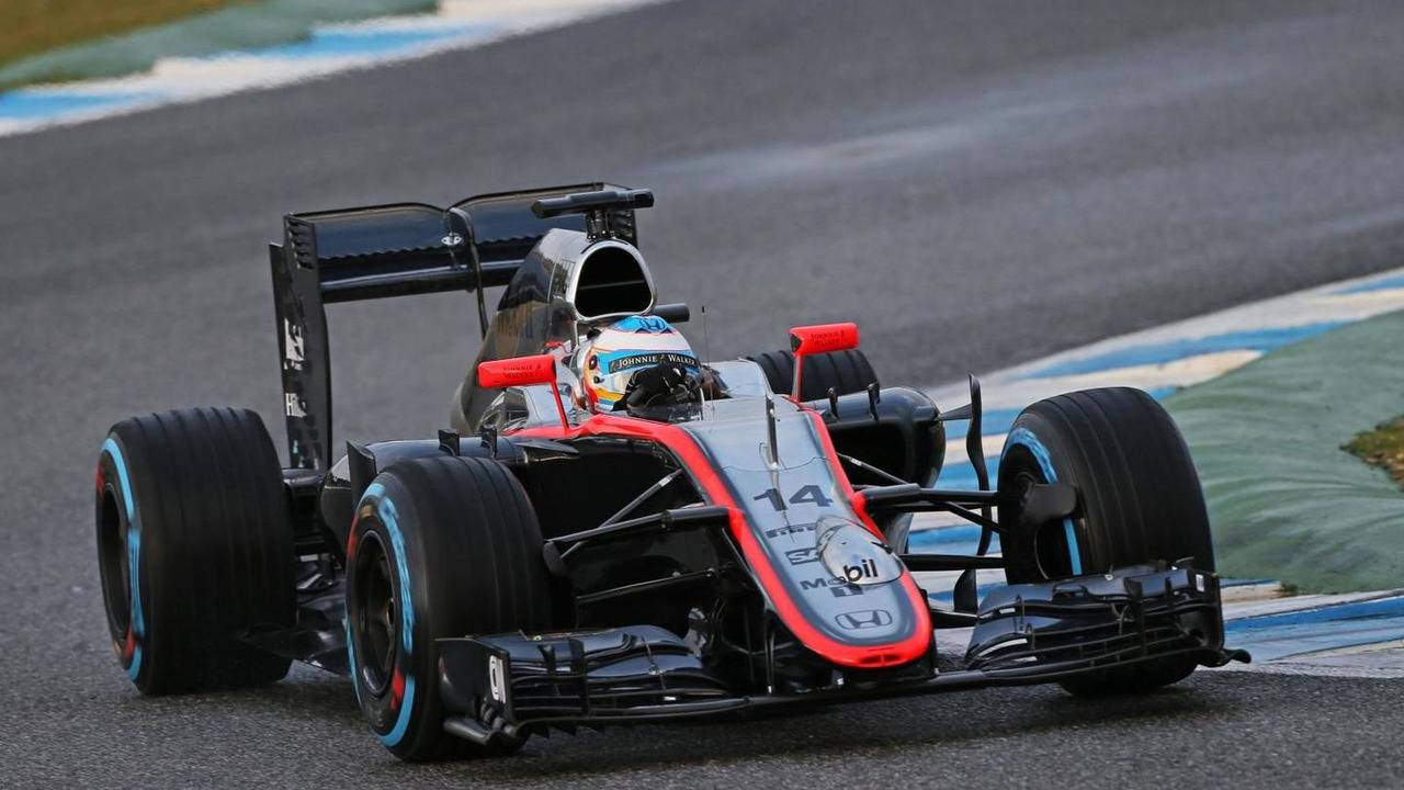 Fernando Alonso (ESP), McLaren MP4-30 running sensor equipment on the nosecone, 03.02.2015, Formula One Testing, Day Three, Jerez, Spain / XPB