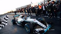 World Champion Nico Rosberg celebrates