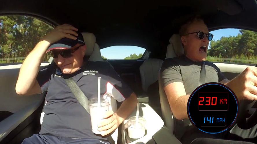 Conan O'Brien takes BMW i8 to 143 mph on the Autobahn, hilarity ensues