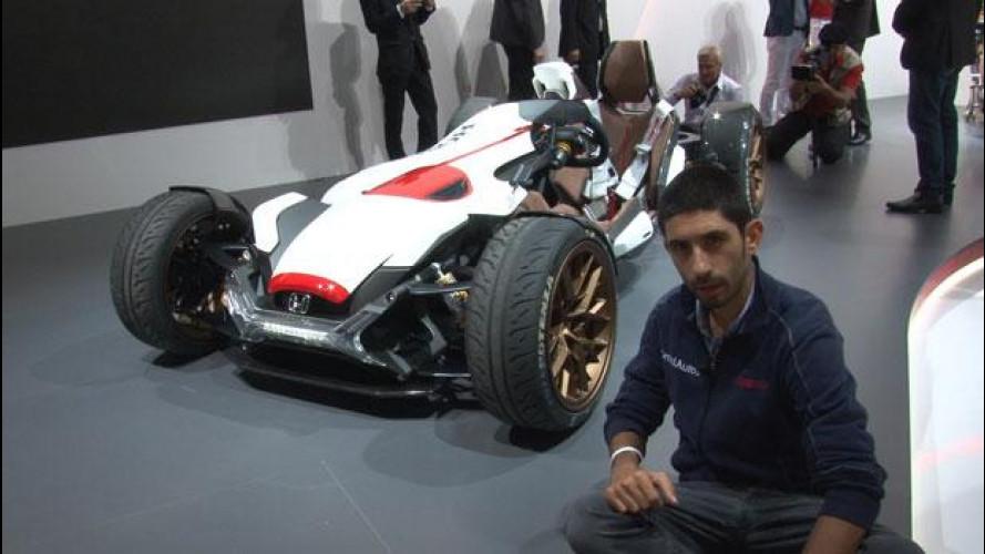 Salone di Francoforte: Honda Project 2&4, metà auto metà MotoGP [VIDEO]