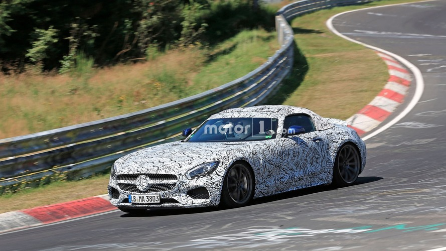 Mercedes-AMG GT Roadster spied at home in the Green Hell