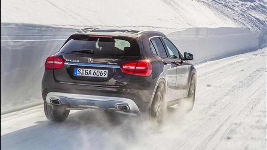 Mercedes 4Matic, la prova delle nevi