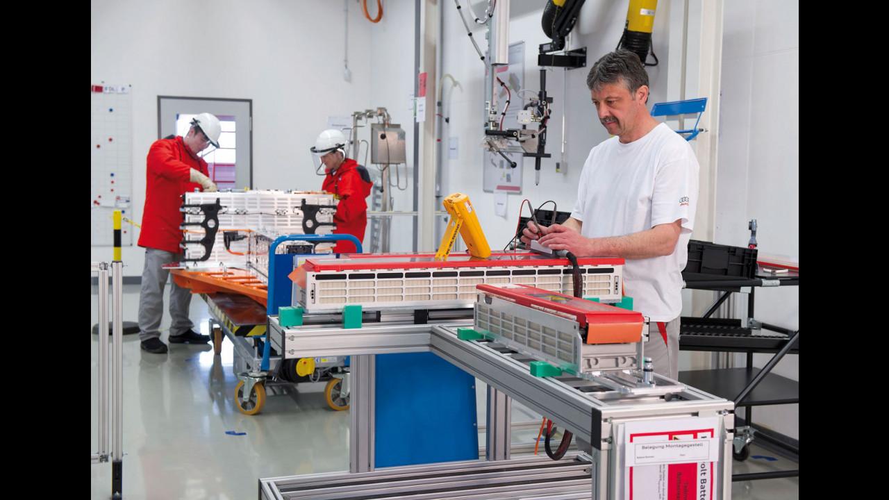 Impianti Audi batterie ad alto voltaggio