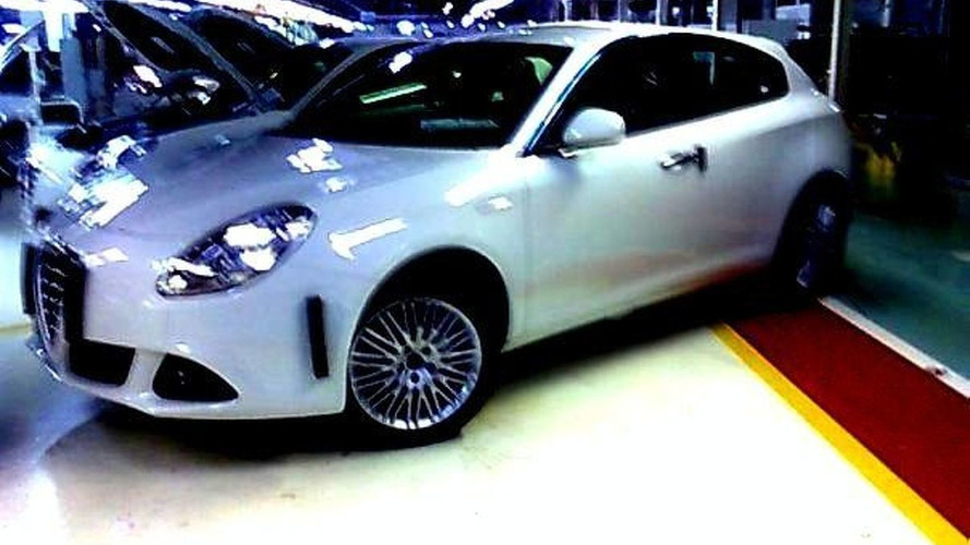 Alfa Romeo Milano spied uncovered in factory
