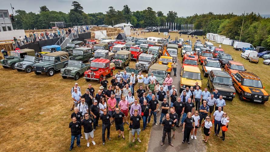 70 Land Rover desfilan en el Goodwood Festival of Speed